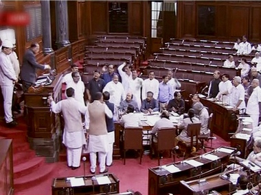 The Rajya Sabha was adjourned four times because of the disruptions by Opposition members. PTI