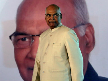 File image of Indian president Ram Nath Kovind. Reuters