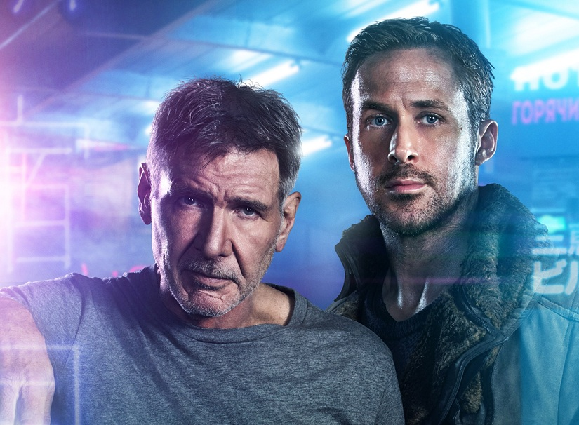 Replicant hunters old Harrison Ford as Rick Deckard and new Ryan Gosling as Officer K in Blade Runner 2049