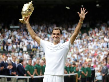 Roger Federer became the only man to win 8 Wimbledon titles. Reuters