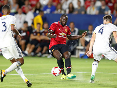 Manchester United's Romelu Lukaku couldn't score a goal on his debut against Los Angeles Galaxy. Reuters