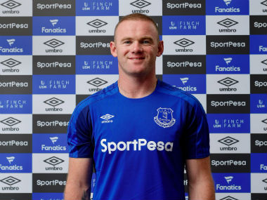 Wayne Rooney poses after rejoining Everton from Manchester United on a two-year-deal. Twitter: @Everton