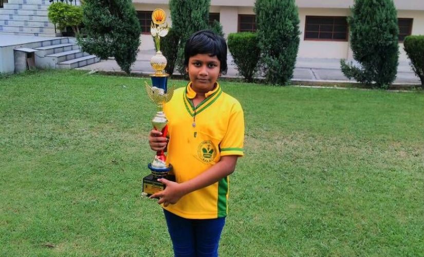 Sahithi finished runners-up with 10.0/11 in the Uunder-9 Nationals in Jalandhar in 2016.