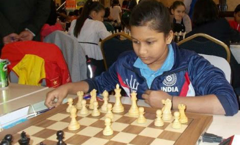 Ten-year-old Sahithi Varshini in action.