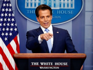 File image of Anthony Scaramucci speaking to media in the White House. AP