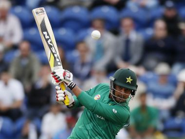 Britain Cricket - England v Pakistan - Fifth One Day International - SSE SWALEC, Cardiff, Wales - 4/9/16 Pakistan's Sharjeel Khan in action Action Images via Reuters / Paul Childs Livepic EDITORIAL USE ONLY. - RTX2O2RL