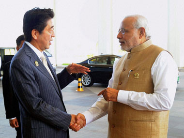 File image of Shinzo Abe and Narendra Modi. PTI