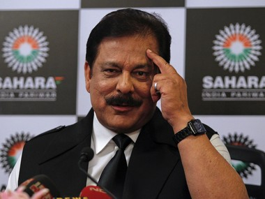 File photo of Sahara Group Chairman Subrata Roy. Reuters