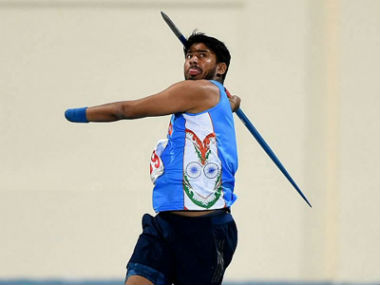 Sundar Gurjar in action at the World Para Athletics Championships. Twitter: @KailashOnline