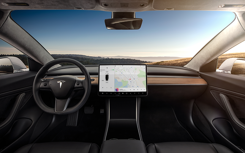 Tesla Model 3 interior dashboard