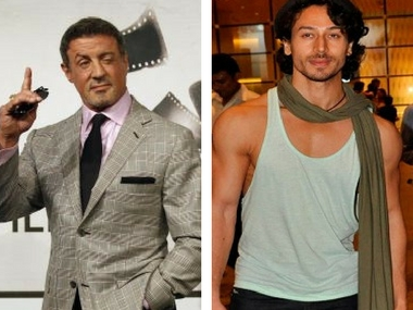 Sylvester Stallone and Tiger Shroff. Image from Reuters and News 18.