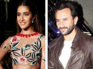 Shraddha Kapoor and Saif Ali Khan. Image from News 18 and IBN Live.