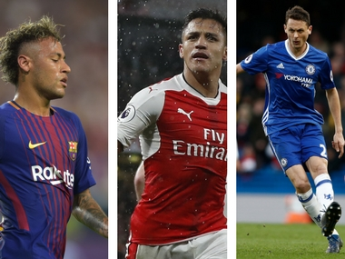 File image of Neymar Jr, Alexis Sanches and Nemanja Matic. Agencies
