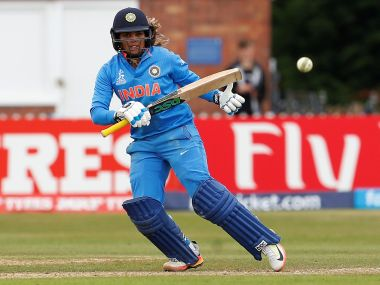 India's Veda Krishnamurthy in action against New Zealand. Reuters