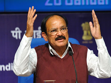 File image of Venkaiah Naidu. Image courtesy: Naresh Sharma