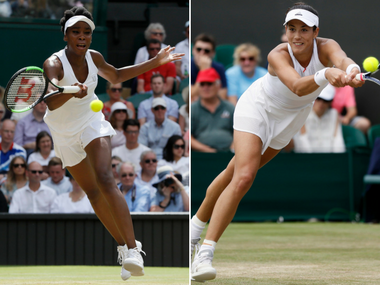 The Wimbledon 2017 final pits five-time champion Venus Williams against 2015 finalist Garbine Muguruza. AP