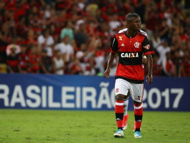 File photo of Vinicius Junior playing for Flamengo. Reuters