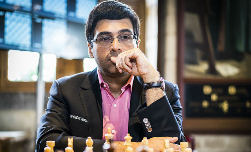 Viswanathan Anand at the Grand Chess Tour 2017 in Leuven, Belgium. Image courtesy: Official website