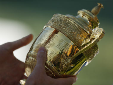 File image of the Wimbledon Trophy. Reuters
