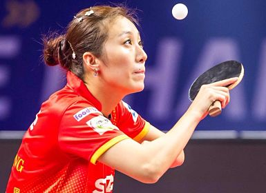 Shaze Challengers Han Ying in action, she will look to continue her unbeaten run. UTT