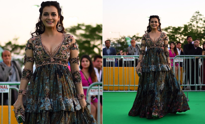 Dia Mirza at IIFA 2017. Images from AFP.
