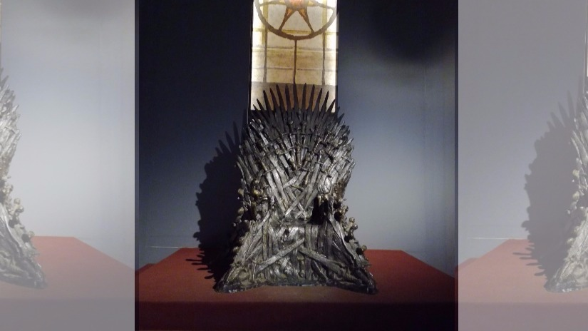 A replica of the Iron Throne from Game of Thrones