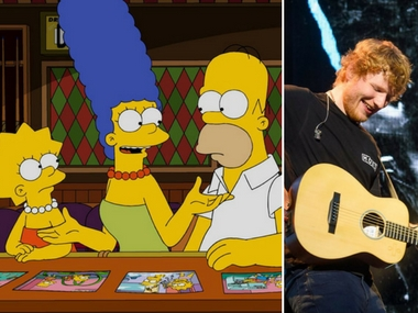 Ed Sheeran to be seen in The Simpsons. Images via Facebook