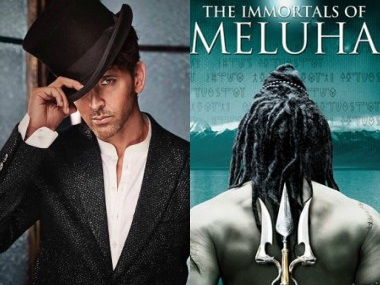 Hrithik Roshan and the cover of Amish Tripathi's The Immortals of Meluha. Images from Facebook and News 18