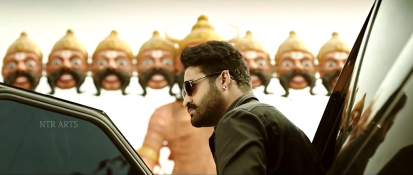 Junior NTR in Jai Lava Kusa's teaser. Screengrab from YouTube