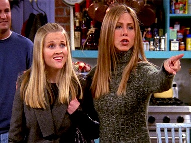 Reese Witherspoon and Jennifer Aniston in a still from FRIENDS. YouTube