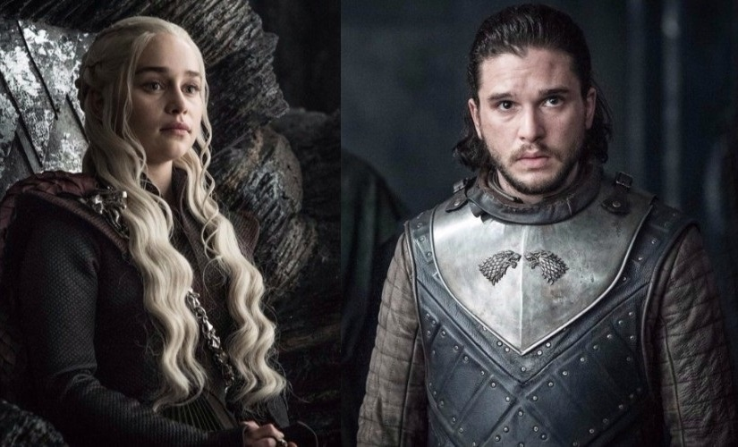 Daenerys Targaryen and Jon Snow. Images from HBO
