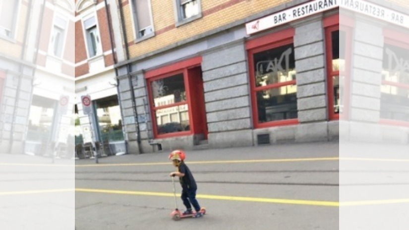 A very young cyclist in Zurich. Image courtesy Mridula Ramesh