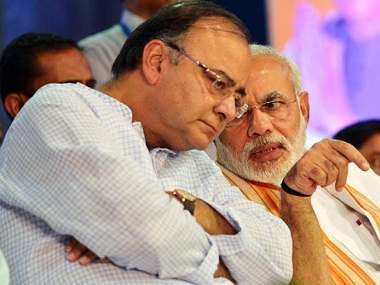 File image of Narendra Modi and Arun jaitley. PTI