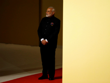 Prime Minister Narendra Modi arrives at the G20 summit in Hamburg. Reuters