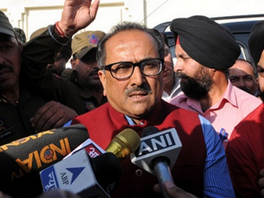 File image of Jammu and Kashmir deputy chief minister Nirmal Singh. Getty Images