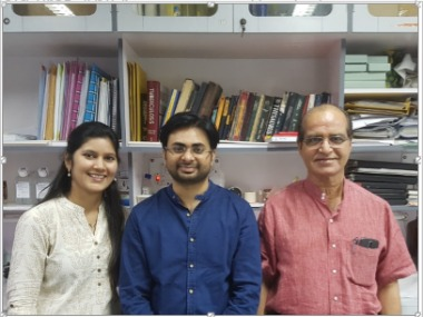 Professor Anil (R) along with his fellow researchers. India Science Wire
