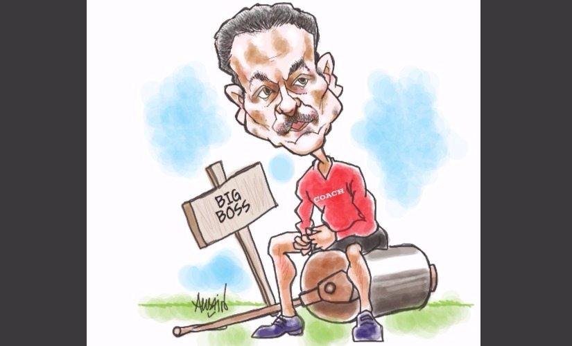 Ravi Shastri. Illustration courtesy Austin Coutinho