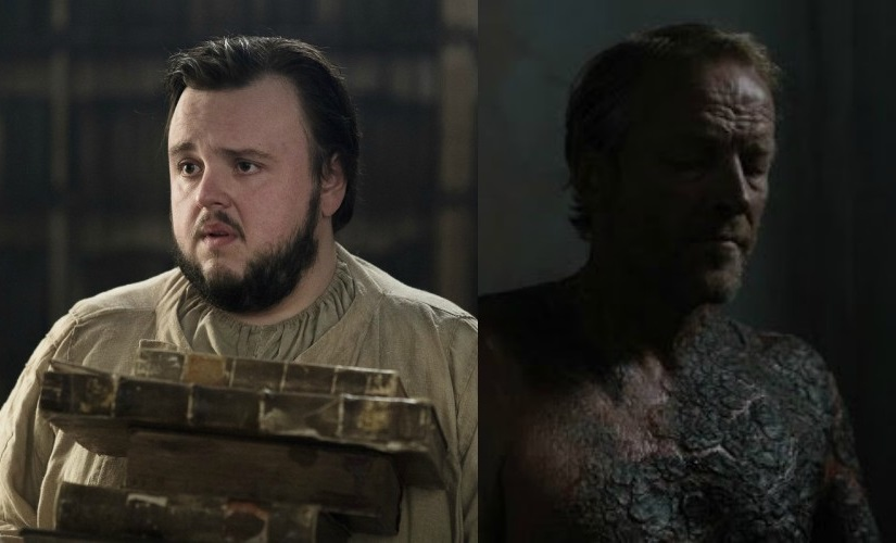 Samwell Tarly and Jorah Mormont. Images from HBO and Facebook