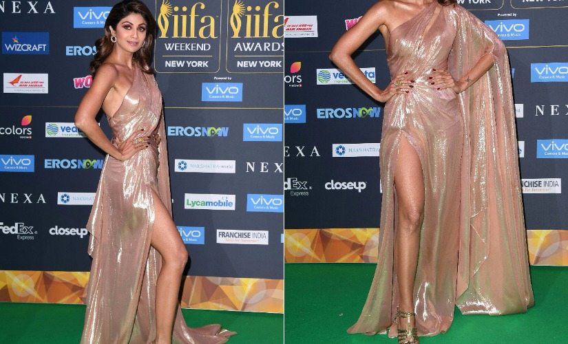 Shilpa Shetty at IIFA 2017. Images from AFP.
