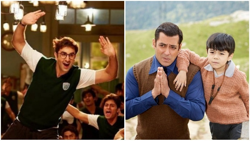 Ranbir Kapor in Jagga Jasoos; Salman Khan in Tubelight. Images via Facebook, Twitter