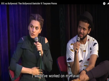 Screenshot of Taapsee Pannu in a chat with the East India Company.