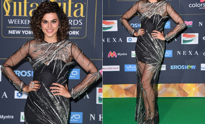 Taapsee Pannu at IIFA 2017. Images from AFP.