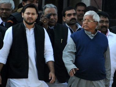 File image of Lalu Prasad and Tejashwi Yadav. Getty images