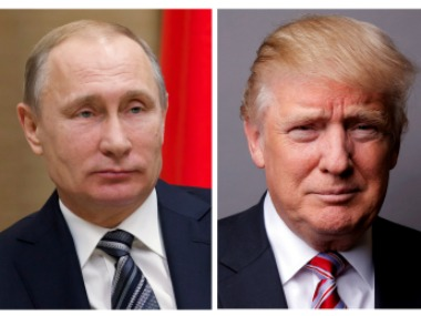 Vladimir Putin (left) and Donald Trump. Reuters