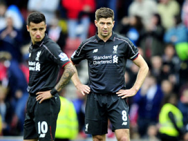 File image of Philippe Coutinho and Steven Gerrard