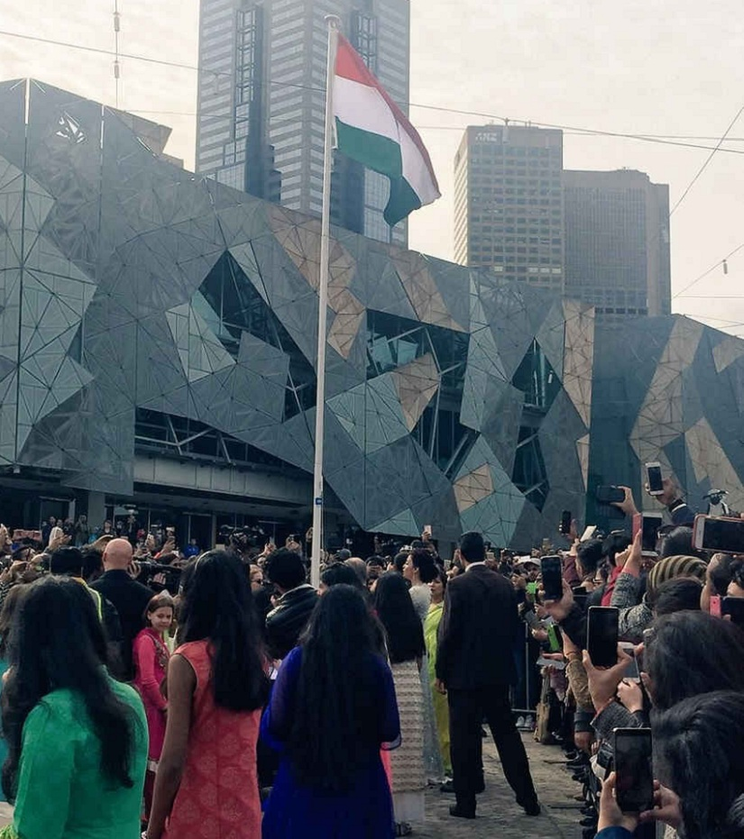 The Indian flag at IIFM's 70th edition. Image from Twitter.