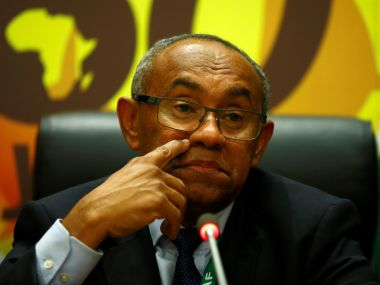 The newly elected Confederation of African Football President Ahmad Ahmad addresses a news conference after his victory at the African Union (AU) headquarters in Ethiopia's capital Addis Ababa, March 16, 2017. REUTERS/Tiksa Negeri - RTX31DCH