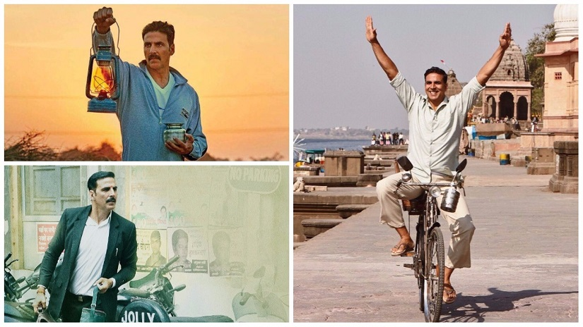 (Clockwise from top left) Stills from Toilet: Ek Prem Katha, Padman, Jolly LLB 2