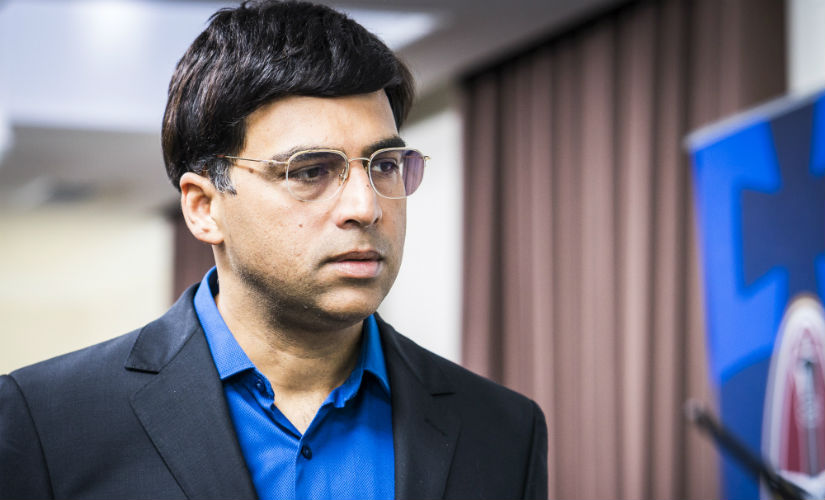 Viswanathan Anand was tied at the second postition at the end of the sixth round