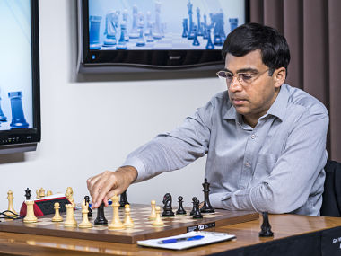 Viswanathan Anand in action during the second round. Lennart Ootes
